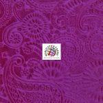 Future Paisley Velvet Fabric Magenta