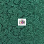 Future Paisley Velvet Fabric Hunter Green