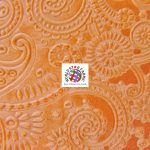 Future Paisley Velvet Fabric Orange