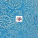 Future Paisley Velvet Fabric Turquoise