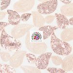Paisley Sequins Scalloped Edge Lace Fabric Blush
