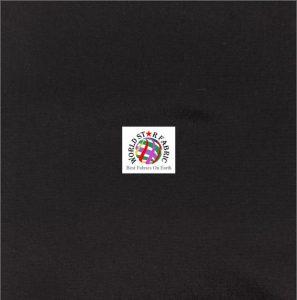 Solid Taffeta Fabric Black