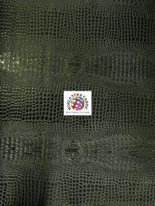 Florida Gator Embossed Vinyl Fabric Black