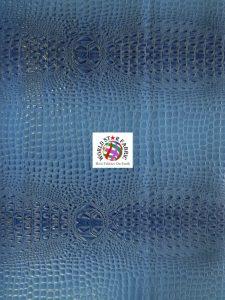 Florida Gator Embossed Vinyl Fabric Blue