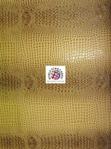 Florida Gator Embossed Vinyl Fabric Brown