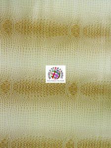 Florida Gator Embossed Vinyl Fabric Cream