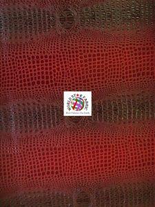Florida Gator Embossed Vinyl Fabric Dark Red