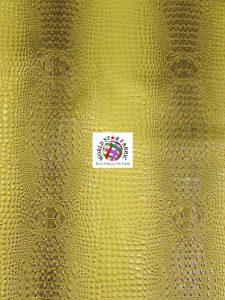 Florida Gator Embossed Vinyl Fabric Gold