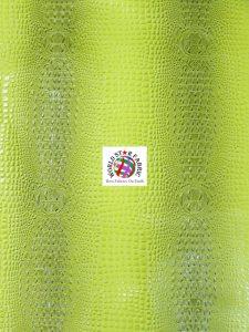 Florida Gator Embossed Vinyl Fabric Green