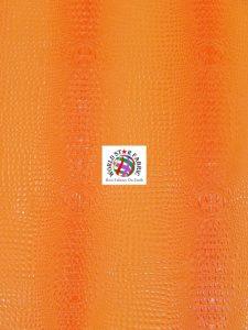 Florida Gator Embossed Vinyl Fabric Orange