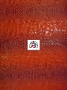 Florida Gator Embossed Vinyl Fabric Red