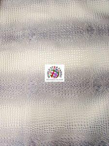 Florida Gator Embossed Vinyl Fabric Silver