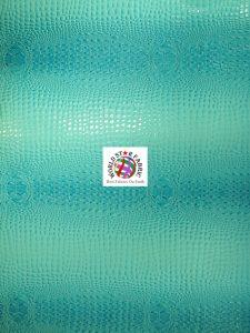 Florida Gator Embossed Vinyl Fabric Turquoise