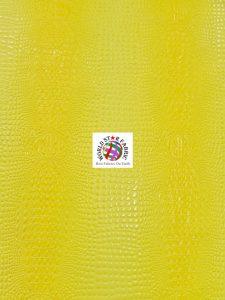 Florida Gator Embossed Vinyl Fabric Yellow