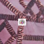 Geometric Dubai Sequins Mesh Fabric Burgundy