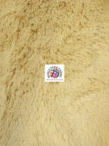 Snuggle Shaggy Soft Minky Fabric Camel