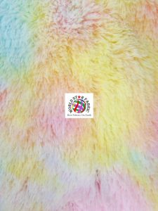 Snuggle Shaggy Soft Minky Fabric Rainbow