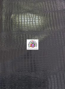 Big Nile Crocodile Vinyl Fabric Black
