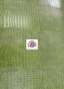 Big Nile Crocodile Vinyl Fabric Green