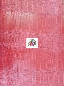 Big Nile Crocodile Vinyl Fabric Pink