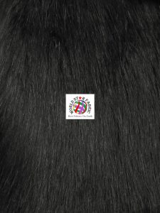 Arctic Fox Fur Fabric Black
