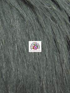 Arctic Fox Fur Fabric Steel