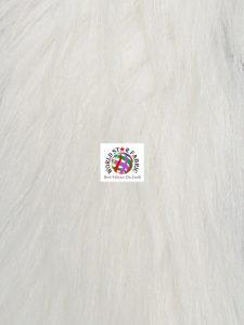 Arctic Fox Fur Fabric White
