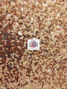 Mini Disc Sequins Nylon Mesh Fabric Champagne