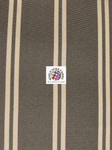 Oxford Striped Outdoor Fabric Brown