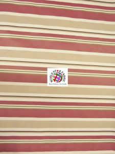 Oxford Striped Outdoor Fabric Burgundy