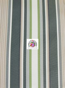 Oxford Striped Outdoor Fabric Green
