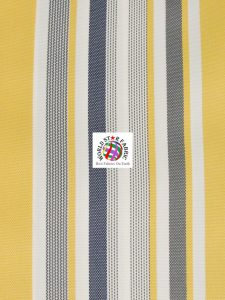 Oxford Striped Outdoor Fabric Yellow
