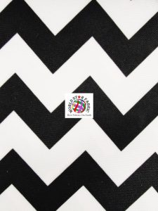 Chevron Canvas Outdoor Fabric Black