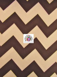 Chevron Canvas Outdoor Fabric Brown