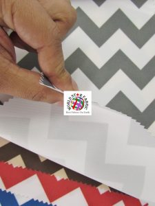 Chevron Canvas Outdoor Fabric Close Up
