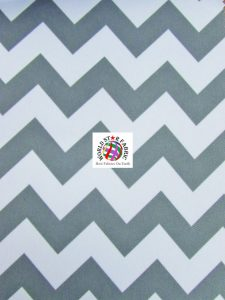 Chevron Canvas Outdoor Fabric Gray