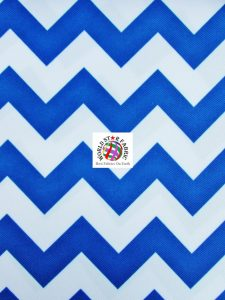 Chevron Canvas Outdoor Fabric Royal