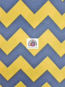 Chevron Canvas Outdoor Fabric Yellow