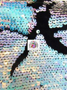 Daydream Reversible Sequins Velvet Fabric Lilac