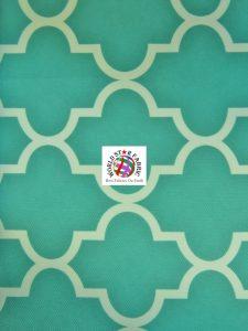 Moroccan Quatrefoil Outdoor Fabric Aqua