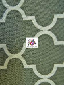 Moroccan Quatrefoil Outdoor Fabric Gray