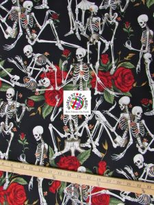 Life's Little Pleasures Black Print Cotton Fabric By Alexander Henry