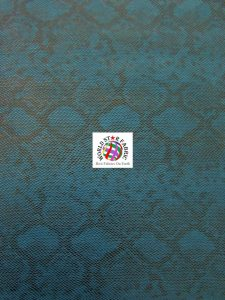 Tropic Sopythana Snake Vinyl Fabric Blue