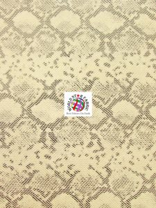 Tropic Sopythana Snake Vinyl Fabric Cream