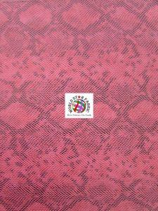 Tropic Sopythana Snake Vinyl Fabric Fuchsia