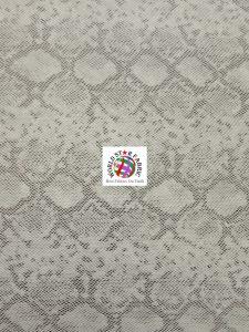 Tropic Sopythana Snake Vinyl Fabric Silver