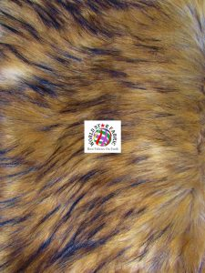 Animal Long Pile Faux Fur Fabric Wolf