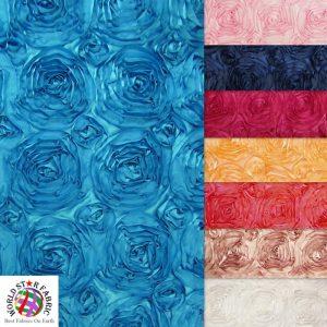 Rosette Style Taffeta Fabric