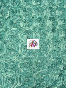 Rosette Style Taffeta Fabric Aqua