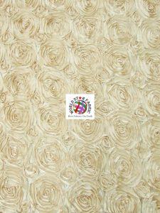 Rosette Style Taffeta Fabric Champagne